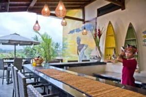 sahaja sawah resort lobby restaurant bali vacation homes