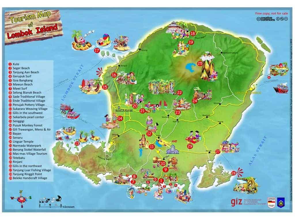 Tourist-Map-Lombok